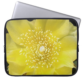 Yellow Cactus Prickly Pear Flower Computer Sleeve