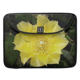 Yellow Cactus Prickly Pear Flower Sleeves For MacBook Pro