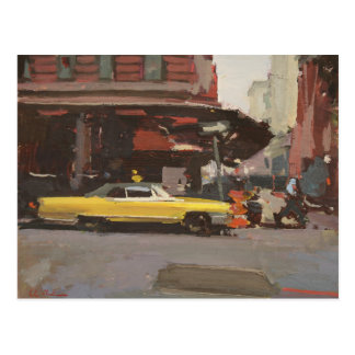 Yellow Cadillac 2012 Postcard