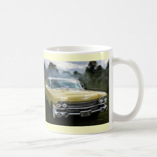 Yellow Cadillac Classic White Coffee Mug
