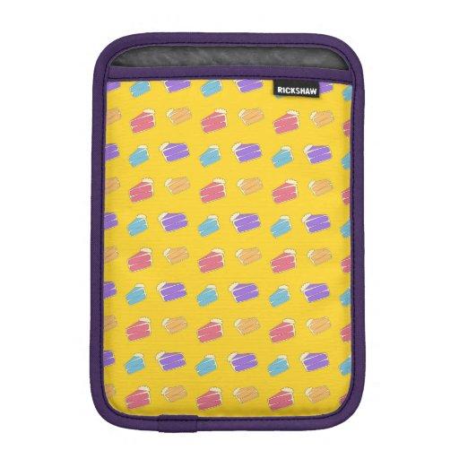 Yellow cake pattern sleeve for iPad mini
