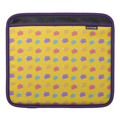Yellow cake pattern sleeves for iPads