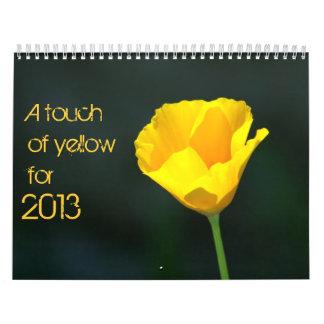 yellow calendar for 2013