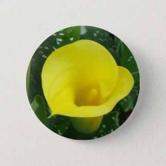 Yellow Calla Button
