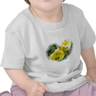 Yellow Calla Lilies and Hearts Shirts