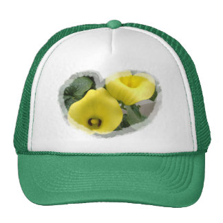 Yellow Calla Lilies and Hearts Trucker Hat