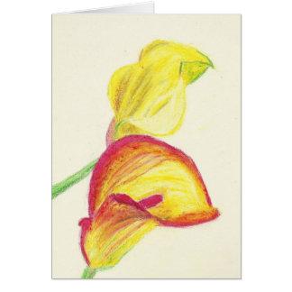 Yellow Calla Lilies Card