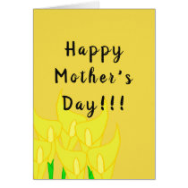 Yellow Calla Lily Greeting Card (Mother's Day)
