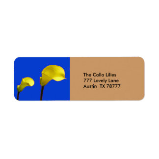 Yellow Calla Lily Return Address Label