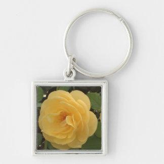 Yellow camellia keychain