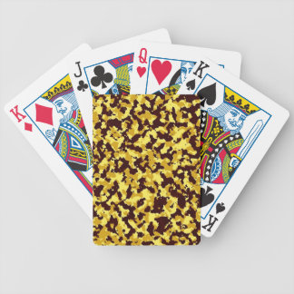 Yellow Camouflage Bicycle Playing Cards