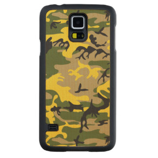 Yellow Camouflage Carved® Maple Galaxy S5 Slim Case