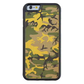 Yellow Camouflage Carved® Maple iPhone 6 Bumper