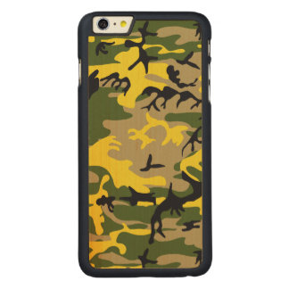 Yellow Camouflage Carved® Maple iPhone 6 Plus Case