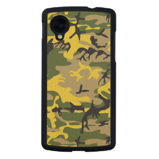 Yellow Camouflage Carved® Maple Nexus 5 Slim Case