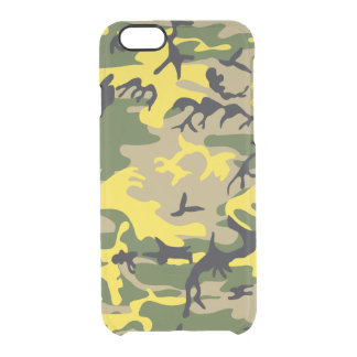 Yellow Camouflage Clear iPhone 6/6S Case