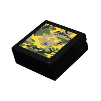 Yellow Camouflage Gift Box