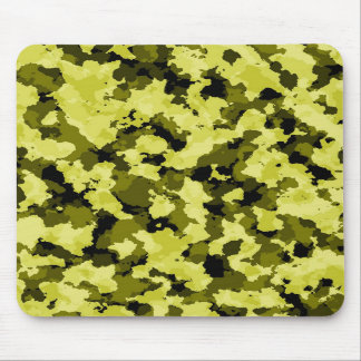 Yellow Camouflage Mouse Pad