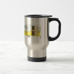 Yellow Camping Trailer Travel Mug