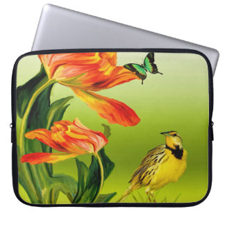 Yellow Canarie name Trace Laptop Sleeve