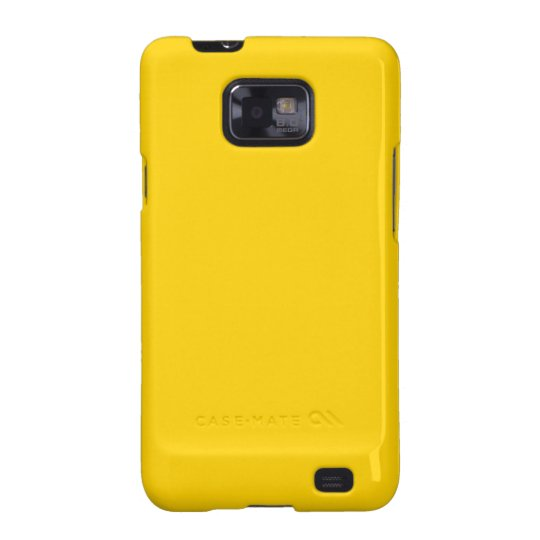 Yellow Canary Fashion Solid Color Samsung Galaxy SII Cover