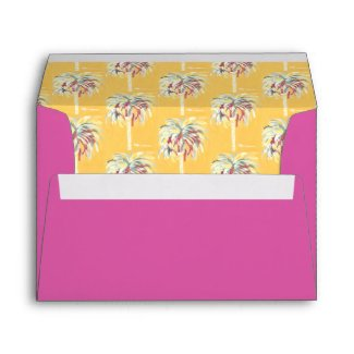 Yellow Canary Palm Tree Envelope