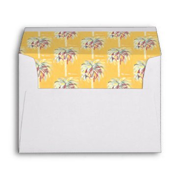 Beach Themed Yellow Canary Palm Tree Envelope