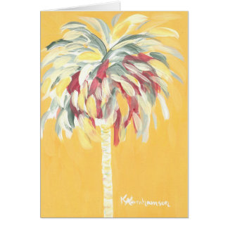 Yellow Canary Palm Tree Note Card