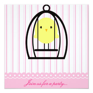 Yellow Canary Party Invitation