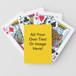 Yellow Canary Solid Color - Customizable Deck Of Cards