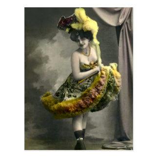 Yellow Cancan Postcard