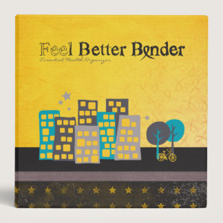 Yellow Cancer Feel Better Binder