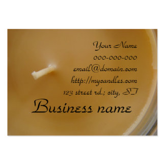 Yellow Candle Business Cards