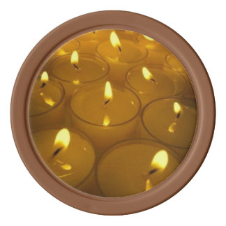 Yellow Candles Poker Chip Set