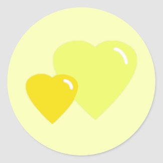Yellow Candy Hearts Envelope Seals sticker
