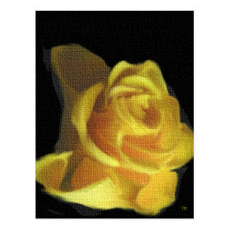 Yellow Canvas Rose Cards Post Cards