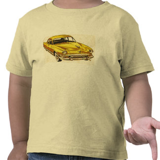 Yellow Car 1952 Kaiser Vintage Ad Childs T-Shirt