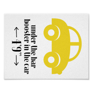 Yellow Car Poster