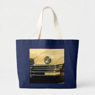Yellow car tote bag