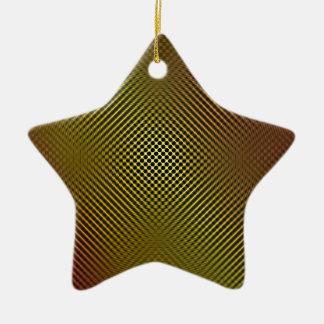 yellow carbon fiber vo.1 ceramic ornament