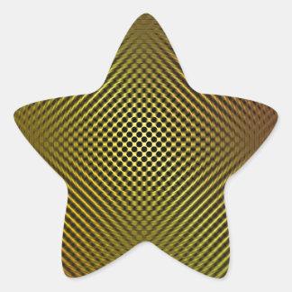 yellow carbon fiber vo.1 star sticker