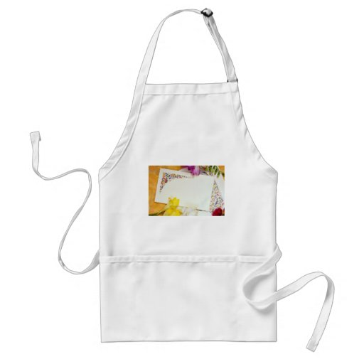 yellow Card and flowers flowers Aprons