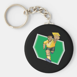 Yellow Card Keychain