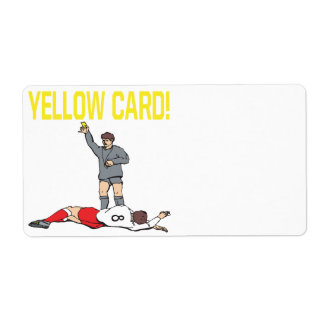Yellow Card Label