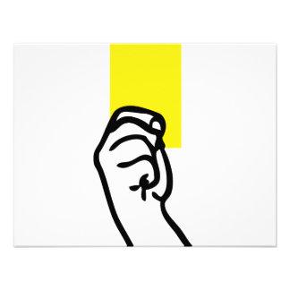 Yellow card soccer announcement