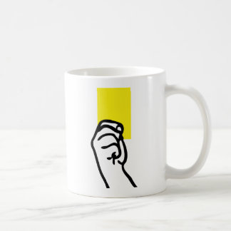 Yellow card soccer coffee mug