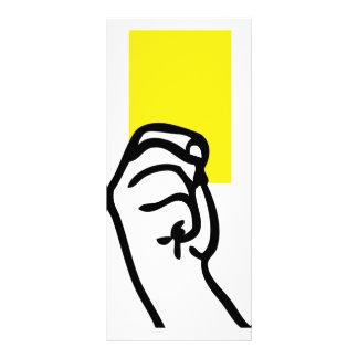 Yellow card soccer customized rack card