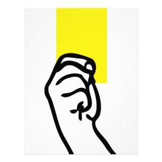 Yellow card soccer letterhead