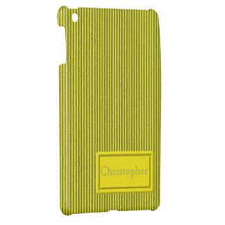 Yellow Cardboard iPad Mini Case Template