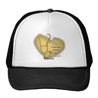 Yellow Cardiac Care Nurse Mesh Hat